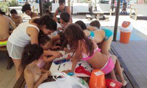 animazione bambini spiaggia Bagni Hermes