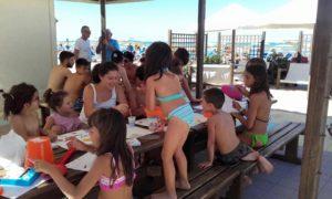 animazione per bambini spiaggia Bagni Hermes Torrette di Fano
