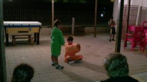 Spettacolo dei bambini ai Bagni Hermes Torrette di Fano