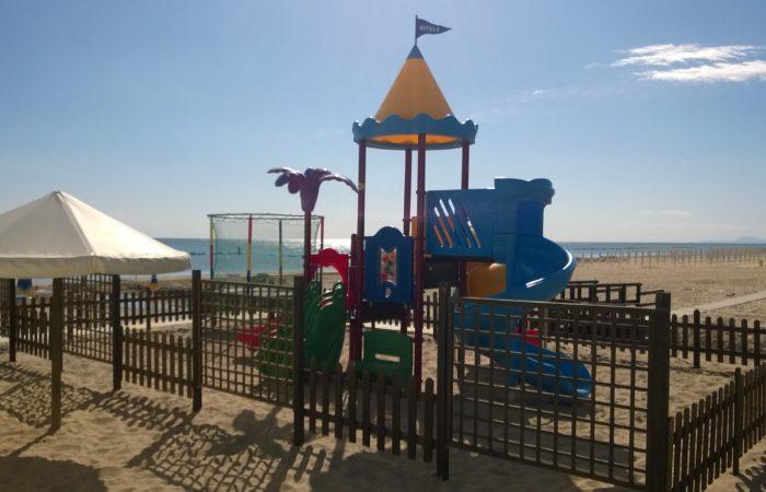 Giochi per bambini in spiaggia a Fano